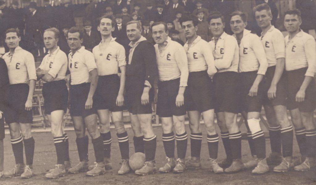 A BEAC-csapat az 1920-as években (Pluhár, Reinhardt, Boór, Gyuris, Vicenik, Vértessy, Pleskó, Kotraschek, Marczinkó, Sághy, Bandenburg)