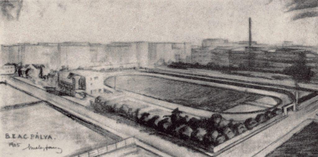 A BEAC pálya távlati képe - Misley Sándor, a BEAC korábbi vívójának tervei